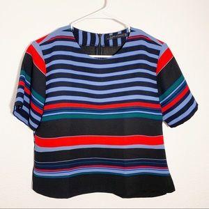 Zara | Striped Dress Blouse